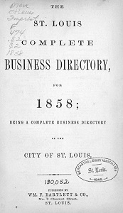 The St. Louis Complete Business Directory for 1858