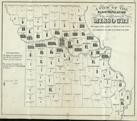 A View of the Slave Population of the Several Counties of Missouri, Showing the Whole Number of Slaves in Each County