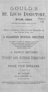 Gould's St. Louis Directory, for 1888. (For the Year Ending April 1st, 1889.)