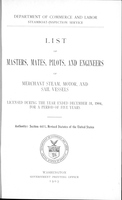 List of Masters, Mates, Pilots, and Engineers of Merchant Steam, Motor, and Sail Vessels 1904