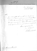 Letter from Henry Dearborn to Colonel Thomas Hunt, October 13, 1806