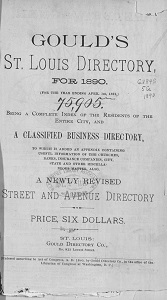 Gould's St. Louis Directory, for 1890. (For the Year Ending April 1st, 1891.)