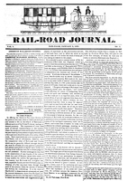 Rail-Road Journal, Volume 1, Number 1