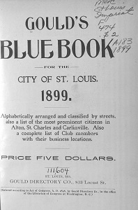 Gould's Blue Book, for the City of St. Louis. 1899