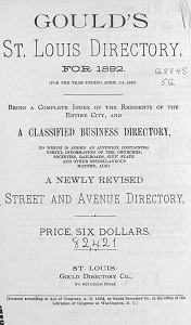 Gould's St. Louis Directory, for 1892. (For the Year Ending April 1st, 1893.)