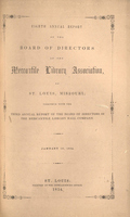 Eighth Annual Report of the Board of Directors of the Mercantile Library Association of St. Louis, Missouri