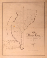 Map of the Bounty Lands of the Illinois Territory