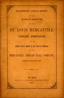 Fourteenth Annual Report of the Board of Directors of the St. Louis Mercantile Library Association