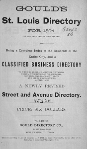 Gould's St. Louis Directory, for 1894 (For the Year Ending April 1st, 1895.)