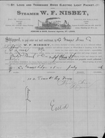 W. F. Nisbet Bill of Lading