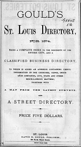 Gould's St. Louis Directory, for 1874