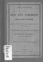 The charter of the Ohio and Mississippi Rail Road Company