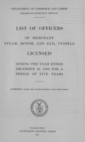 List of Masters, Mates, Pilots, and Engineers of Merchant Steam, Motor, and Sail Vessels 1910