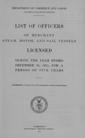 List of Masters, Mates, Pilots, and Engineers of Merchant Steam, Motor, and Sail Vessels 1911